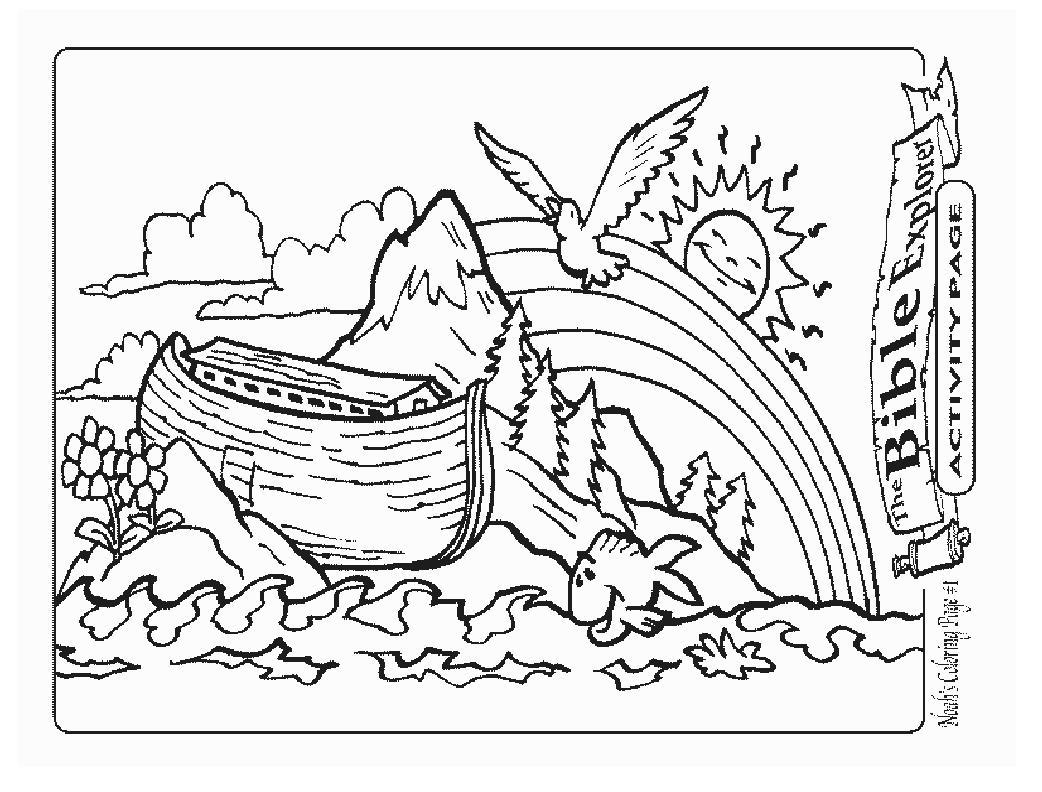 Noe e a arca pintura